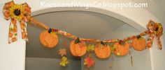 fall leaf garland | Fall Pumpkin and leaf garland | Flickr - Photo Sharing!