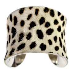 Pony Hair Cuff Bracelet in Spotted Leopard  by by UNEARTHED, $85.00