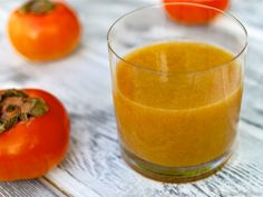 "Raw Apple Persimmon ""Parasites Be Gone"" Cleansing Juice - There are lots of health benefits of persimmon juice. UNripe persimmons are powerful parasite cleansing agents. Mix with equal parts apple juice to make the juice more palatable. (I had no idea what they even where until now)"
