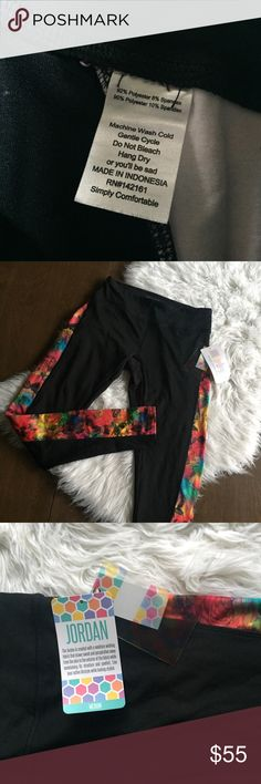 2292c7d1e62f0 Lularoe Jordan Athletic Legging - Rainbow Floral New with tags Jordan  leggings - rainbow Floral print