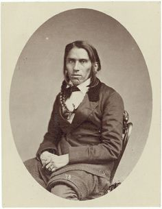 Chief Po-Go-Nay-Ge-Shick (aka Hole in the Day) - Celebrated Chippewa Chief - by James McClees studio - probably March 1858.  (Original brown version).
