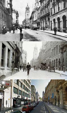 Bristol Then & Now - Corn Street, Bristol BS1