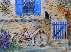 """Tableau """"Le Chat de Kerverdi"""" - peintures-axelle-bosler : Peintures par peintures-axelle-bosler"""