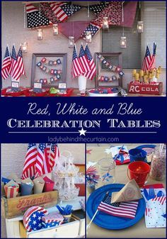 summer & patriotic (4th of July) decorating, parties and picnics ...