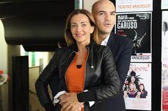 Marco Eugenio Di Giandomenico and Vanessa Galipoli at the Vascello theater (Rome, Oct. 17, 2017)