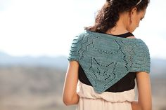 Huntress shawl with Fox designed by Jennifer Chase-Rappaport for Knitscene Fall 2012