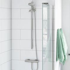 Cyclone Thermostatic Bar Valve & Drench Slider Rail Kit Bathroom Plans, Bathroom Hooks, Bath Screens, Student Living, Sliders, House Design, Curtains, Kit, How To Plan