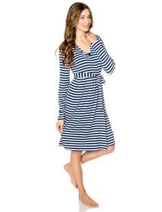 7f6700b698670 Bump In The Night(tm) Henley Nursing Nightgown And Robe Nursing Pajamas,  Nursing