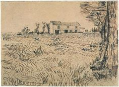 Vincent van Gogh Drawing, Pencil, pen, reed pen, brown ink Arles: April - early in month, 1888 Van Gogh Museum Amsterdam, The Netherlands, Europe F: 1415, JH: 1408