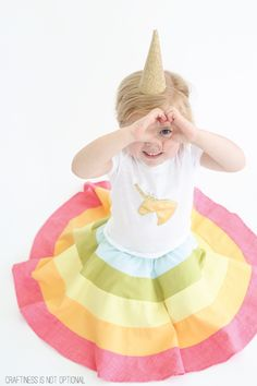 rainbow skirt tutorial and free pattern! // craftiness is not optional