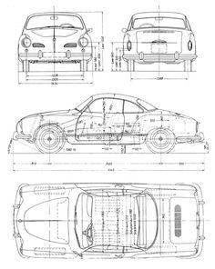 Audi (Typ blueprints, vector drawings, clipart and pdf templates Audi Tt Roadster, Volkswagen Karmann Ghia, Audi A7 Sportback, Audi A6 Allroad, Audi Rs6 Avant, A6 Avant, Audi Q3, Audi Cars, Combi Split