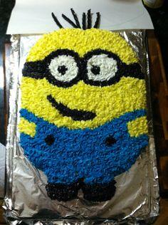 Minion cake! Connor and  logan birthday !!!