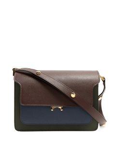 Marni Trunk medium saffiano leather shoulder bag