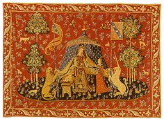 One of the Cluny Tapestries. We have this one and another in our family room. Replicas, of course! Also, have some throw pillows with variations of the designs. Need other fabrics used in room to coordinate with these - they are large!