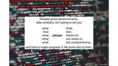 with The Wheel of Progress Data Analytics, To Tell, Told You So, Thoughts, Feelings, Ideas