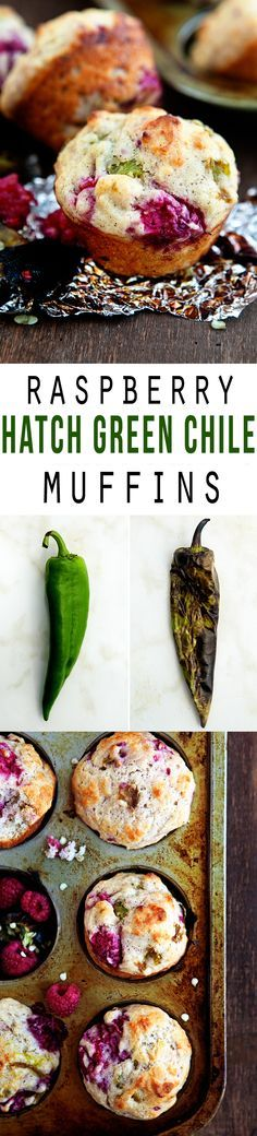 Hatch Green Chile Raspberry Muffins: Tried on 9/19/15. Muffin part didn't quite have enough flavor to balance chiles/berries. Maybe a corn based muffin or just a different muffin base next time.
