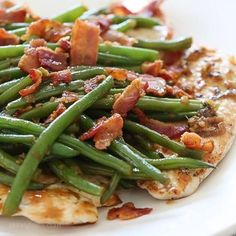 One Skillet Chicken with Bacon and Green Beans – this quick and easy chicken dish is cooked in a white wine sauce with string beans and bacon, all in one skillet. You can modify this basic recipe using any veggies you like! (for whole30 swap the wine for more broth!) 3 Smart Points • 211 Calories http://www.skinnytaste.com/one-skillet-chicken-with-bacon-and-green-beans/ (link in profile)