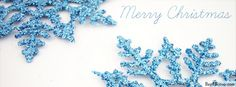 Merry Christmas with Blue Snow Flake Fb Profile Cover   Best FB Cover