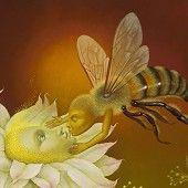 Jose Escofet ~ Pollination (detail)  |  oil on canvas on panel 57 x 57 cm, 2011