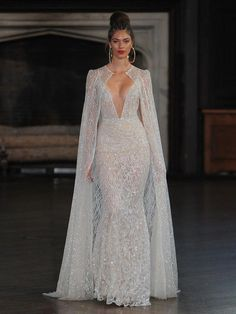 **Reception dress** Berta bridal fall 2017 wedding dresses full of Illusion lace and sheer details Amazing Wedding Dress, Dream Wedding Dresses, Bridal Dresses, Bridesmaid Dresses, Prom Dresses, Wedding Dress Cape, Egyptian Wedding Dress, Diamond Wedding Dress, Fall Wedding Gowns