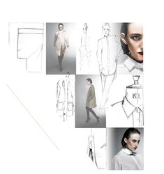 Fashion Design - shirt drawings; creative fashion sketchbook layout; fashion portfolio // Janine Clark