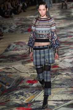 "forlikeminded: ""  Alexander McQueen | Paris Fashion Week | Spring 2017 Model: Vika Ihnatenko """