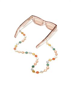 those sunglasses can still be a fashion statement even when you're not wearing them! keep them on this glasses chain from tuleste and you'll be looking really cute and can rest easy knowing you won't lose your favorite sunnies—which, as you know, is a very serious concern.