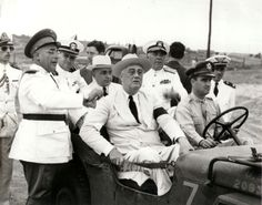 Getúlio Vargas e o presidente dos Estado Unidos -  em visita ao Brasil durante a segunda guerra mundial.