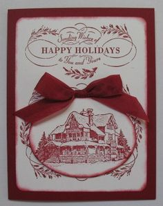 #christmas lodge #stampin up