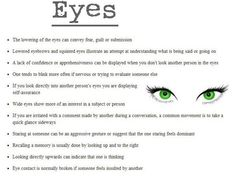 Body language: eyes