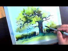 Видео мастер-класс: пишем акварелью картину «Дерево» - Ярмарка Мастеров - ручная работа, handmade