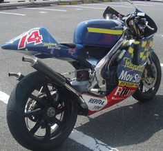 Honda NSR250 Dajiro Kato tribute... Kato's death at high speed in MotoGP led to a knee jerk decision to 'make motogp safer' by reducing the capacity of machines from 990cc to 800cc. As we now know the opposite was true and because the bikes had less power and were lighter they were slower in a straight line but faster through corners- no one crashes in a straight line!!