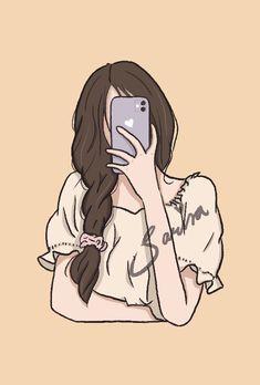 Cartoon Girl Images, Cute Cartoon Drawings, Cute Cartoon Girl, Cartoon Pics, Cute Cartoon Wallpapers, Cartoon Art, Beauty Illustration, People Illustration, Character Illustration
