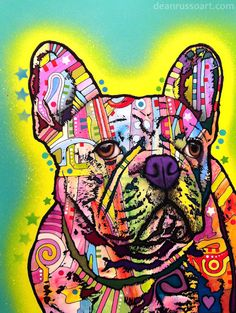 Dean Russo Art Dogs Golden | Dean Russo Art — French Bulldog PRINT