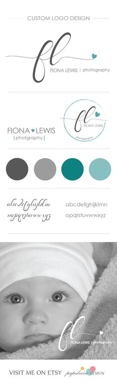 Custom signature logo for a newborn photographer. http://etsy.me/1GyWwwY