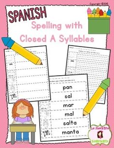 Spanish Closed A Syllables Writing Pack: Help your students move beyond writing words with two-letter syllables with these printables! $