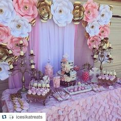 70 best Ideas for baby shower girl theme princess backdrops Baby Girl Shower Themes, Girl Themes, Baby Shower Princess, Princess Birthday, Girl Birthday, Birthday Parties, Baby Princess, Shower Party, Baby Shower Parties