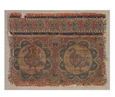 Silk fragment with roundels of ducks; x cm; Cleveland Museum of Art Persian Beauties, Sassanid, Achaemenid, Cleveland Museum Of Art, Art Club, Art Techniques, Floral Motif, Textile Art, Textiles