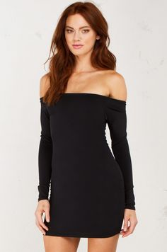 New Moments Off the Shoulder Mini Dress in Black(Get the look at www.shopAKIRA.com ) #ShopAKIRA #minidress #dress #dresses #offtheshoulder #offtheshoulderdresses #springfashion #spring #blackdress #littlerblackdress