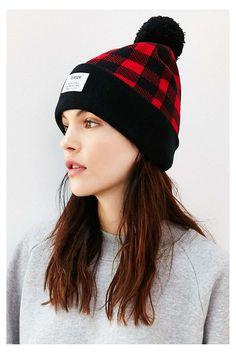 Reason Woodsman Plaid Pompom Hat