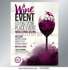Design for wine event. Suitable for poster, promotional leaflet, invitation…