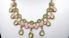 Pink and Olive Green Necklace