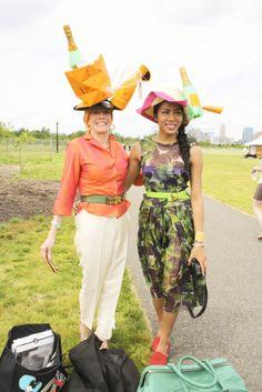 fancy ladies in fancy hats.