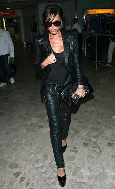 Victoria Beckham Leather Clutch - Victoria Beckham Looks - StyleBistro