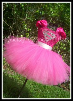 "This is what Gianna want's to be for Halloween this year. We were talking and she said, ""Mom I want to be a pink Supergirl with a tutu and a cape"". I found this on PINTEREST, it's Perfect!!"