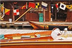 nautical flags & classic boats
