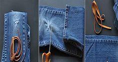 Blugii preferaţi nu vă mai încap? Sau poate s-au demodat? Sau sunt prea vechi deja? Staţi un pic, nu vă gărbiţi să-i aruncaţi! Puteţi folosi stofa lor (numită denim) pentru a crea o mulţime de