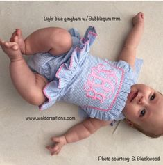 Baby swimsuit, Infant swimsuit, baby girl Monogram swimsuit, Toddler Girls One piece ruffle swimsuit with SNAPS in CROTCH Boutique handmade by waidcreations on Etsy https://www.etsy.com/listing/398725873/baby-swimsuit-infant-swimsuit-baby-girl