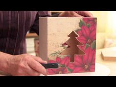 Decoupage, Christmas Time, Youtube, Diy Christmas Ornaments, Diy And Crafts, Boiler, Wooden Chest, Ideas For Christmas, Farmhouse