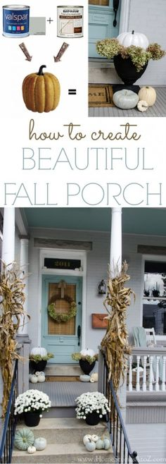 Tips on how to create a beautiful fall porch.